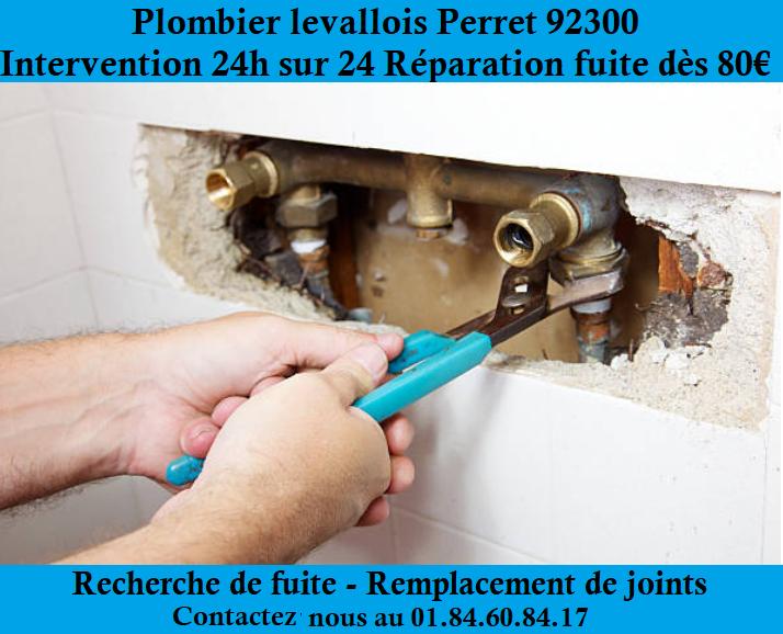 Plombier Levallois-Perret pour intervention 24h/24