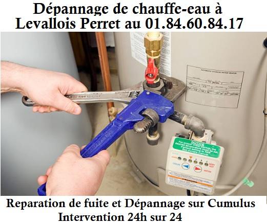 depannage panne chauffe eau levallois perret