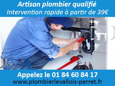 Dépannage plombier Levallois Perret